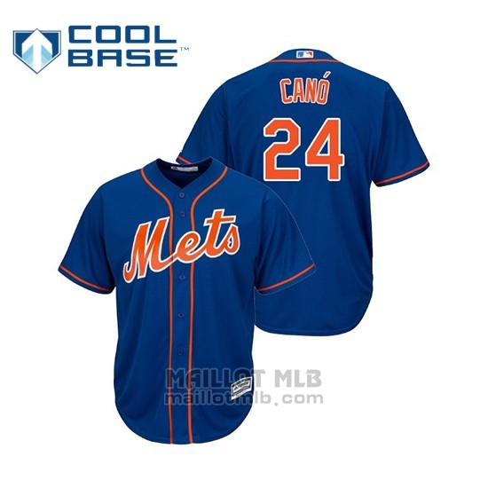 Maillot Baseball Enfant New York Mets Robinson Cano Cool Base Majestic Alterno Bleu